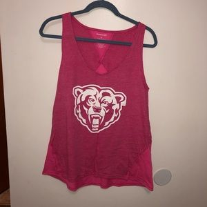 Hot Pink Athletic Tank Top with Golden Bear Logo